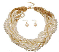 Party Pearls Jewelry Set.  Includes Necklace & Earrings