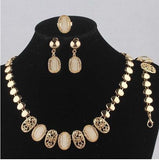 18k Gold Plated Jewelry Set - Light, Classy and Colorful