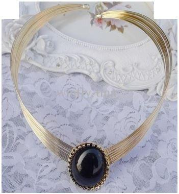 Trendy Choker with Large Focal Gem