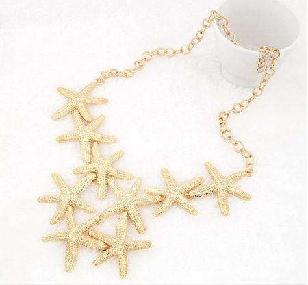 Multilayer Starfish Necklace - Gold Plated
