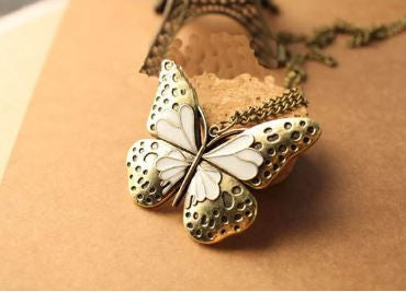 Long Sweater Chain Beautiful Butterfly Necklace