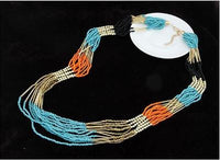 Maxi Patchwork Multi Strand Seed Bead Necklace - Wear Anywhere