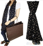 Stylish and Ornate - Chiffon Polka Dot Scarf