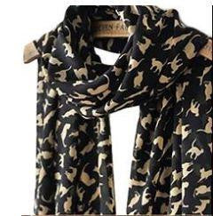 Cute Cat & Kitten Chiffon Scarf