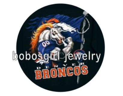 "Denver Broncos ""Fighting Horse"" - Snap Button"