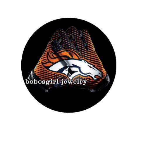 "Denver Broncos ""Horse Head with Black"" - Snap Button"