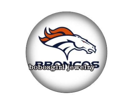 "Denver Broncos ""Horse Head with White"" - Snap Button"