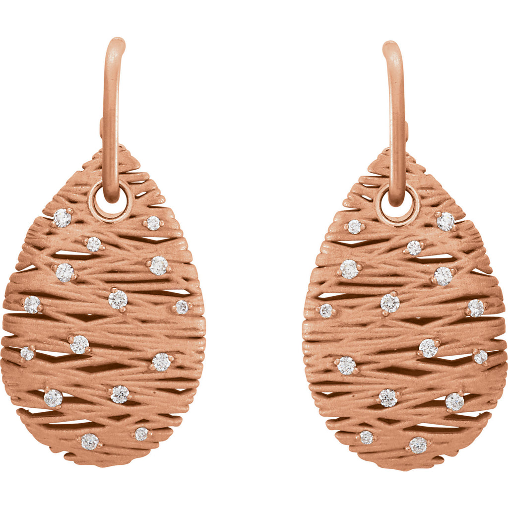 85693:105:P - Diamond Nest Design Earrings