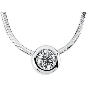 61139:209640:P - Diamond Solitaire Necklace