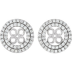 85915:102:P - Earring Jackets for 8mm Pearl