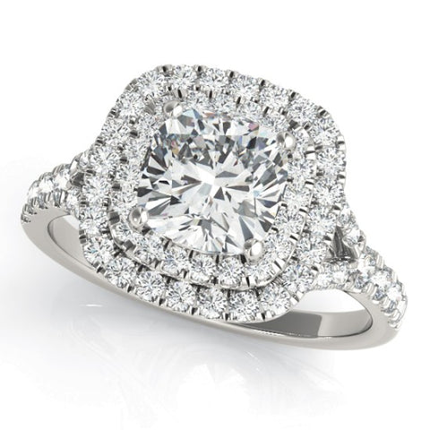 50952-E - CU HALO ENGAGEMENT RING