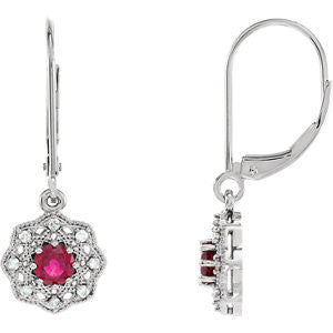 86243:6005:P - Diamond Halo-Style Earrings