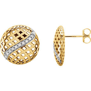 85683:1010:P - Diamond Pierced Style Earrings