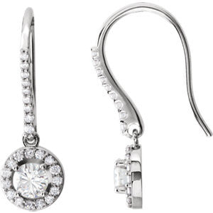 651147:60002:P - Diamond Semi-set Halo-Style Earrings