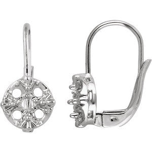 651478:60000:P - White Cluster Earring Mountings