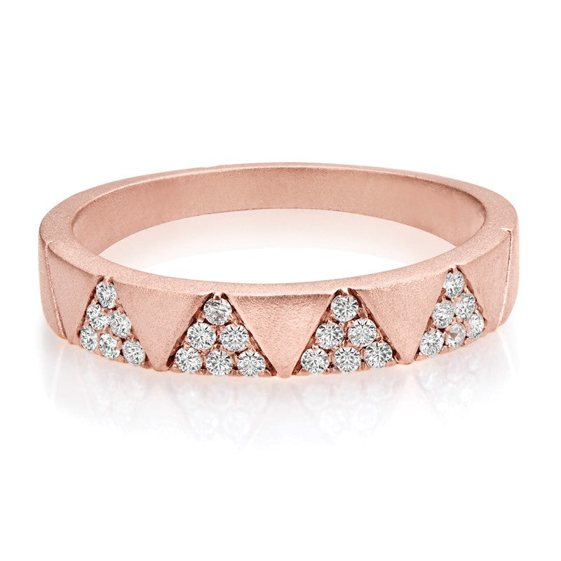 S1DR171 - 14K ROSE DIAMOND FASHION BAND;DIAMOND=1/5 CTTW