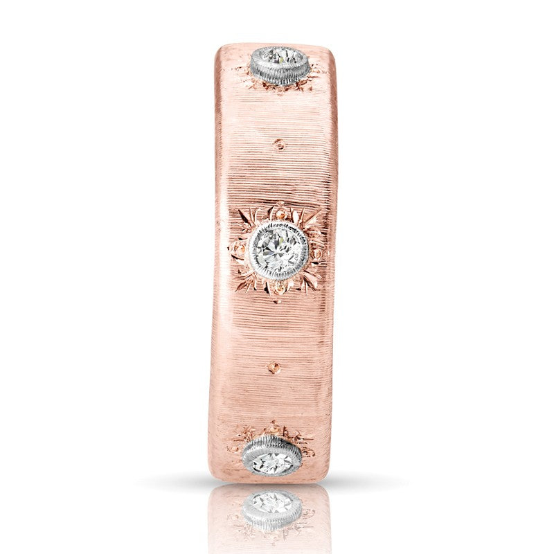 S1DR190 - 18K WHITE & PINK RING;DIAMOND=1/10 CTTW