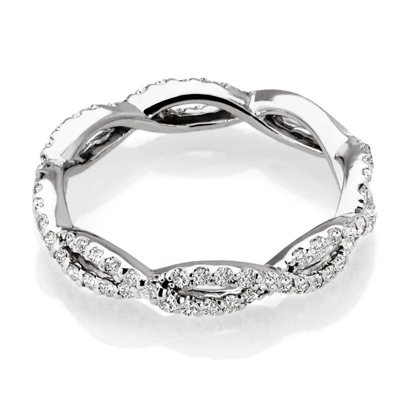 S1DR200-W - 14K WHITE ETERNITY INFINITY RING;DIAMOND=1/2 CTTW