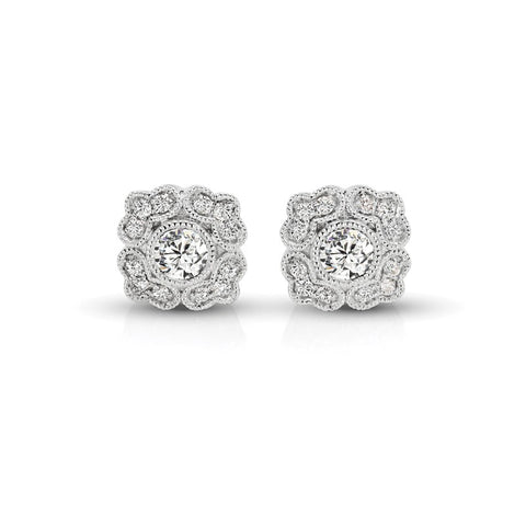 S1ER215 - 14KW DIAMOND EARRINGS;DIAMOND=1/8 CTTW (Pair)
