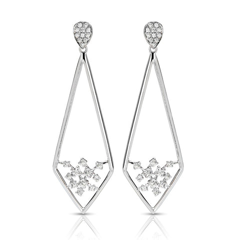 S1ER250 - 14KW DIAMOND EARRINGS;DIAMOND=3/8 CTTW (Pair)