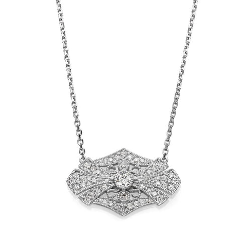 S1NK169 - 14KW DIAMOND NECKLACE;DIAMOND=1/4 CTTW