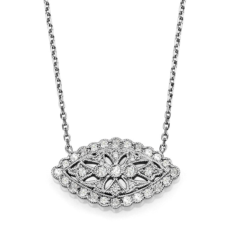 S1NK175 - 14KW DIAMOND NECKLACE;DIAMOND=1/4 CTTW