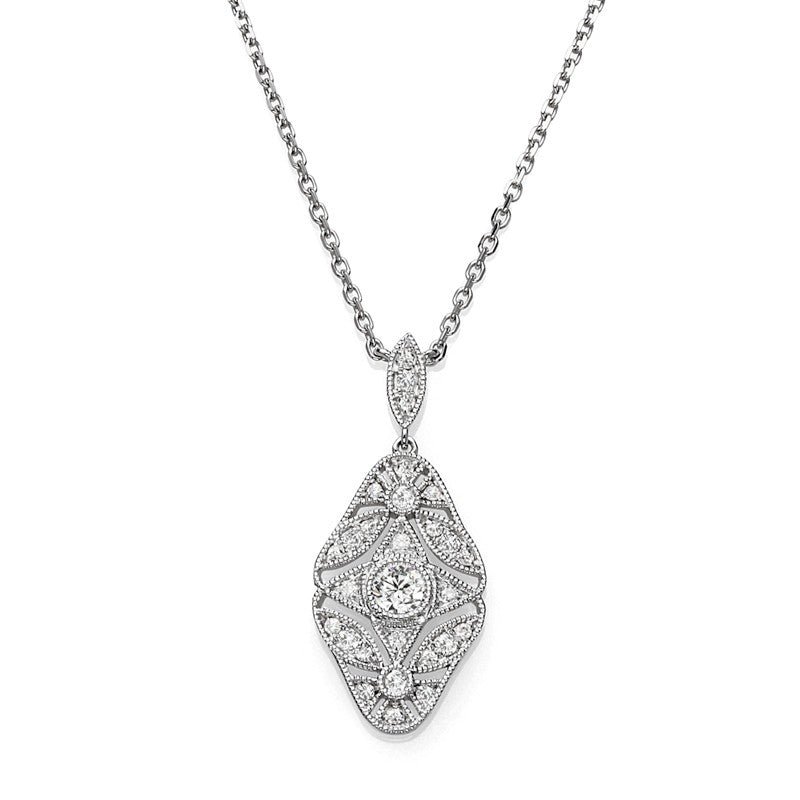 S1NK178 - 14KW DIAMOND NECKLACE;DIAMOND=1/5 CTTW