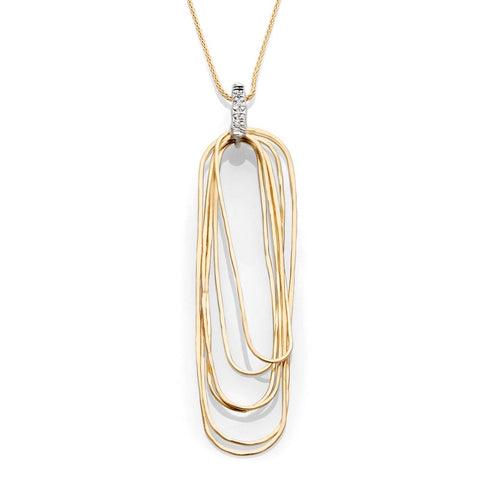 S1NK188 - 14KY RECTANGULAR NECKLACE WITH DIA NECKLACE;DIAMOND ACCENT
