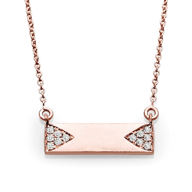 S1NK200 - 14K ROSE DIAMOND NECKLACE