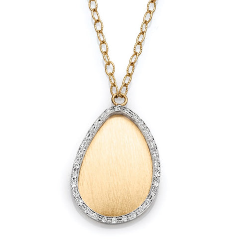 S1NK216 - 14K TWO TONE NECKLACE;DIAMOND=3/8 CTTW