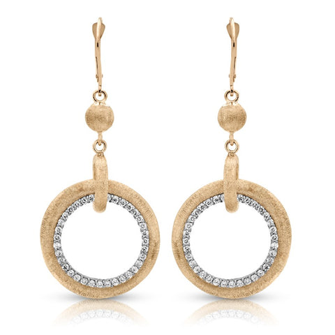 S1ER260 - 14KY EARRINGS;DIAMOND= 1 CTTW (Pair)