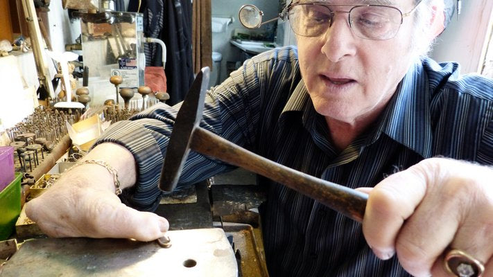 Lee Elliot of Lee Jewelers at his bench