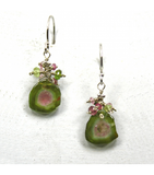 DEE010 - Watermelon Tourmaline Earrings