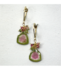 DEE016 - Watermelon Tourmaline Earrings