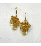 DEE018 - Citrine Beaded Earrings
