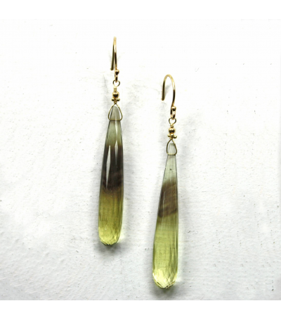 DEE020 - Bi-Color Citrine Smokey Earrings