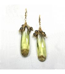 DEE022 - Bicolor Citrine-Smokey Earrings