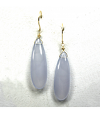 DEE036 - Chalcedony Cabochon Earrings