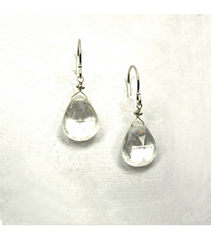 DEE038 - White Quartz Earrings