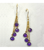 DEE044 - Amethyst Earrings