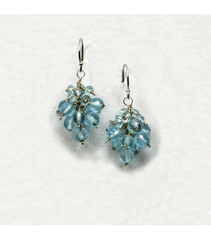 DEE048 - Blue Topaz Earrings