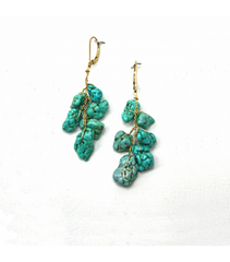 DEE056 - Chinese Turquoise Earrings