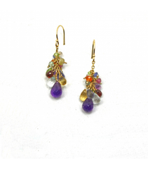 DEE060 - Amethyst & Assorted Stones Earrings