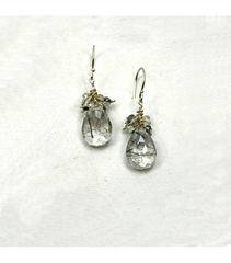DEE062 - Tourmilated White Quartz Earrings