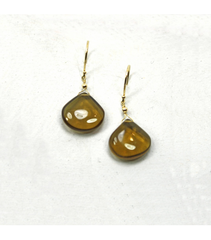 DEE064 - Smokey Quartz Cabochon Earrings