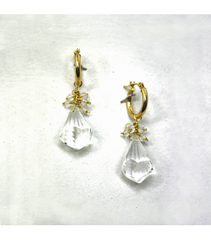 DEE074 - White Quartz Earrings