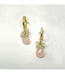 DEE078 - Rose Quartz Earrings