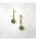 DEE082 - Emerald, Peridot Earrings