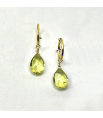 DEE086 - Lemon Citrine Earrings