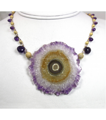 DEN010 - Amethyst Beaded Necklaces
